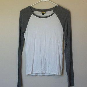 Prince & Fox Long Sleeve Baseball Tee Shirt Small